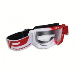 PROGRIP 3300 White/Red Transp Mask
