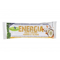 Coconut Almond energy bar Fogliaverde 01