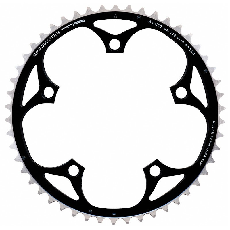 Chainring 53 Teeth 9/10S BCD 130mm Black 5 Arms