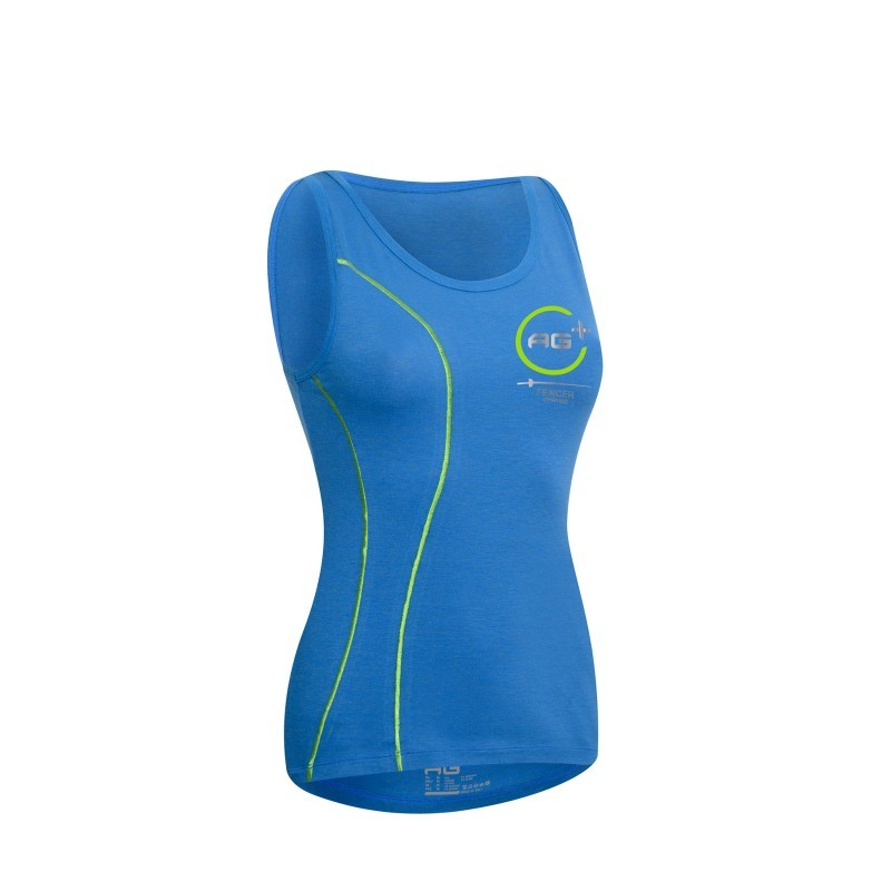 Fencing Tank Top AG+ Woman BlueGreen front