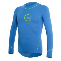 Fencing Long Sleeve T-Shirt AG+ Man BlueGreen front