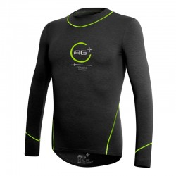 Fencing Long Sleeve T-Shirt AG+ Man BlackGreen front
