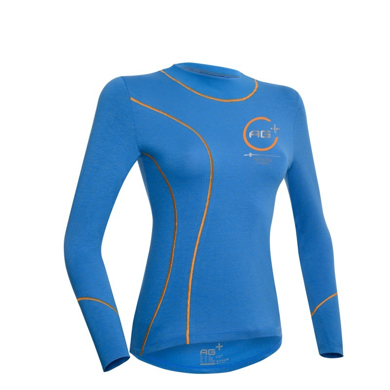 Fencing Long Sleeve T-Shirt AG+ Woman BlueOrange front