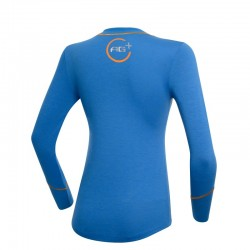 T-Shirt Scherma Manica Lunga AG+ Donna BluArancio rear