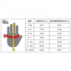 Size Chart KONG Gloves