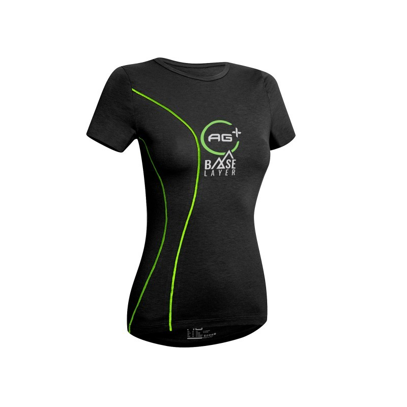 T-Shirt Nordic Walking AG+ Donna blackgreen 03