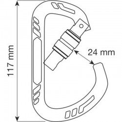 GUIDE XL LOCK Size - Carabiner CAMP
