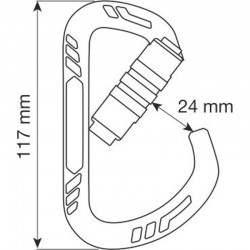 GUIDE XL 2LOCK Size - Carabiner CAMP