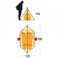 Tenda MTB misure - FERRINO