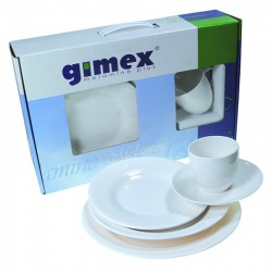 Set piatti 4 pers. White Dreams Gimex