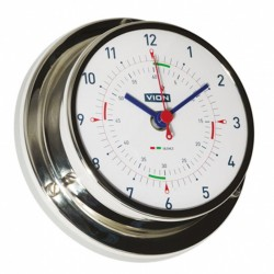 Clock Ø97mm Inox with silence zone Foresti e Suardi