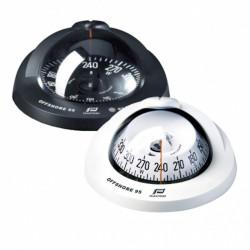 White compass 95 - black conical card flushmount 01 Plastimo