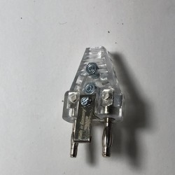Two pin plug transparent FWF