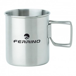Stainless steel cup - folding handle - FERRINO